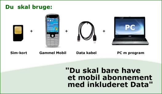 Internet på mobilen - hvordan?